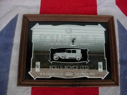 Antique Rolls Royce Pub Mirror