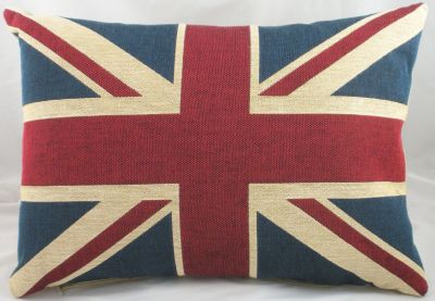 vintage union jack cushion. Black Bedroom Furniture Sets. Home Design Ideas