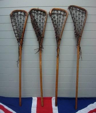 Antique Wooden Lacrosse Stick