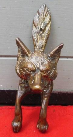 High Quality ANTIQUE BRASS FOX DOOR KNOCKER