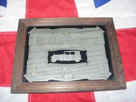 Vintage Rolls Royce Pub Mirror