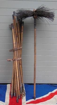 antique chimney sweeps brush and rods. Black Bedroom Furniture Sets. Home Design Ideas