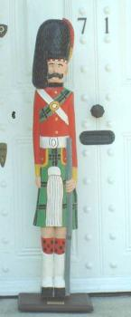 black watch highlander wooden soldier